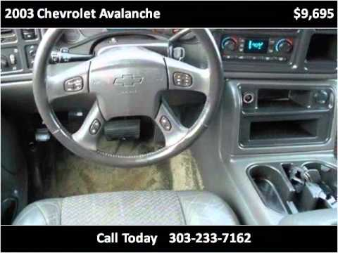 2003 chevrolet avalanche used cars lakewood co youtube for Happy motors inc lakewood co