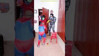 Spider man Nerf War Superhero Hulk THANOS Scary GHOST PRANK 3am funny video USA tik tok India comedy