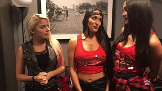 The Bella Twins surprise Alexa Bliss with some words of encouragement: SummerSlam Diary