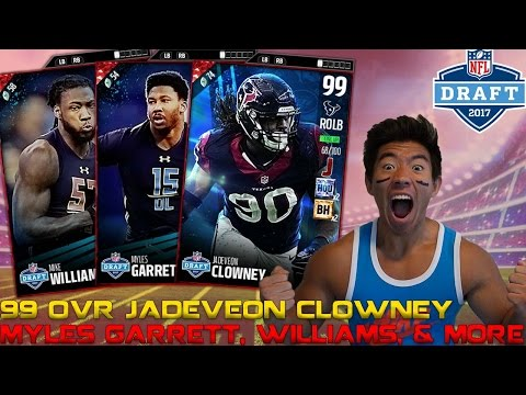 ULTRA RARE 99 OVR JADEVEON CLOWNEY, MYLES GARRETT, & MORE! MADDEN 17 ULTIMATE TEAM