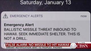 Sen. Brian Schatz on false alarm about missile threat to Hawaii
