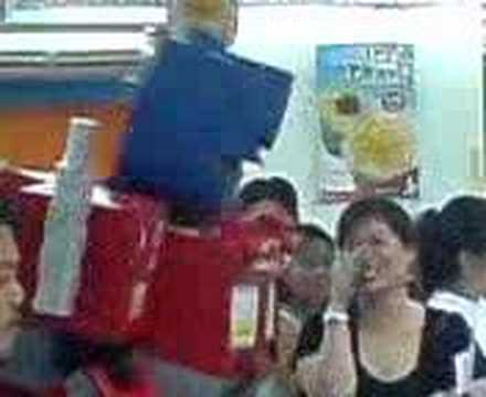Optimus Prime on Jolibee Travel Video