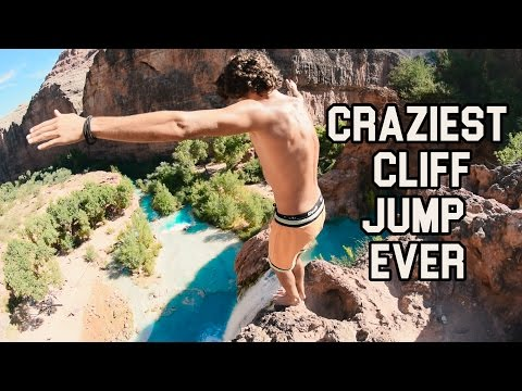 125 FOOT DOUBLE FRONTFLIP | GRAND CANYON CLIFF JUMPING HIGHL