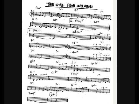 The Girl From Ipanema + Sheet Music - YouTube