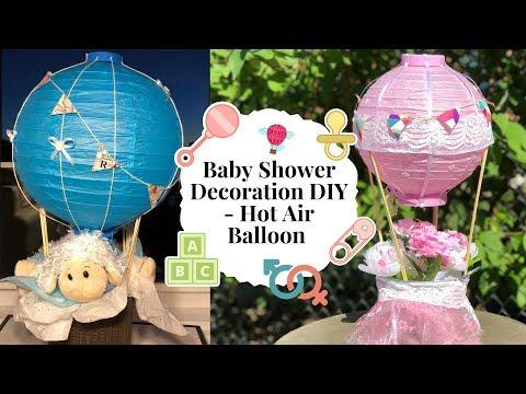 Baby Shower Decoration Ideas - Hot Air Balloon DIY