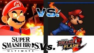 SSBU vs SSF2 All Final Smashes comparison / Super Smash Bros Ultimate VS Super Smash Flash 2