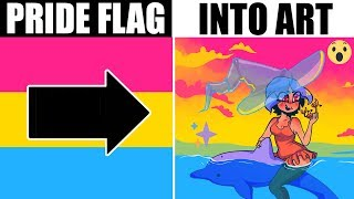Artist Turns Lgbt Flags Into Art Youtube