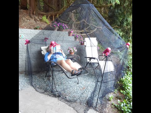 Diy Outdoor Mosquito Net Shelter Youtube