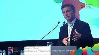 Macri repitió sus propuestas en IDEA y puso condiciones para futuros miembros de la Corte Suprema