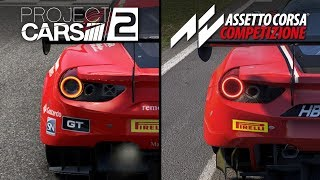 assetto Corsa Competizione vs Project Cars 2  Direct Comparison
