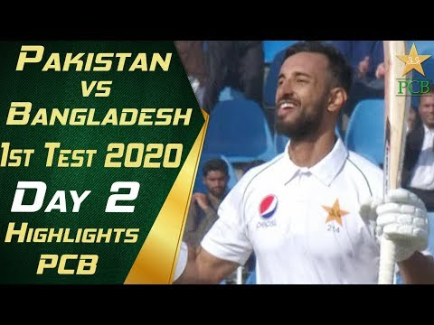 Pakistan vs Bangladesh 2020 | Short Highlights Day 2 | 1st T