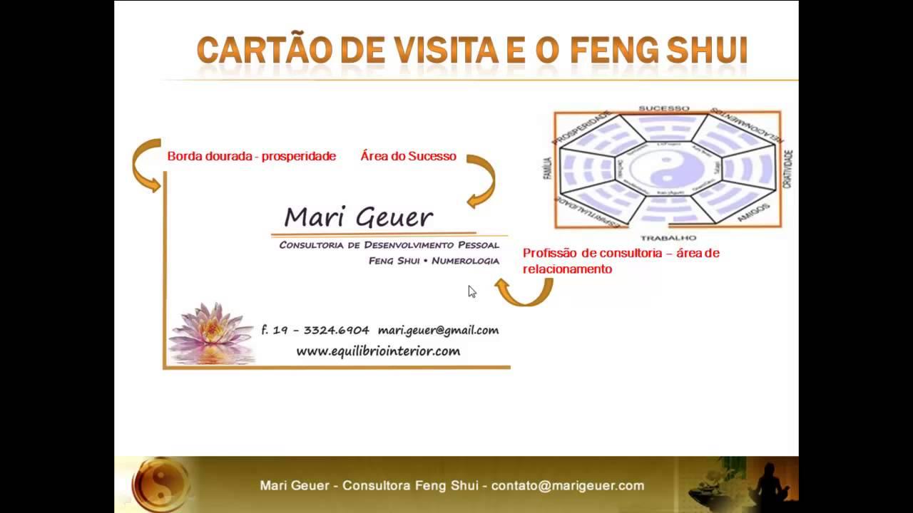 Cartao de visita e o feng shui youtube for Como practicar feng shui