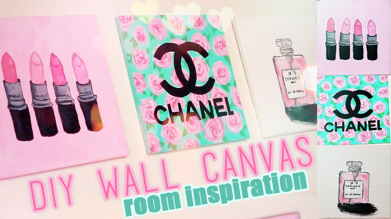 Diy Wall Canvas Room Inspiration : Diy room inspiration decor chanel mac designer