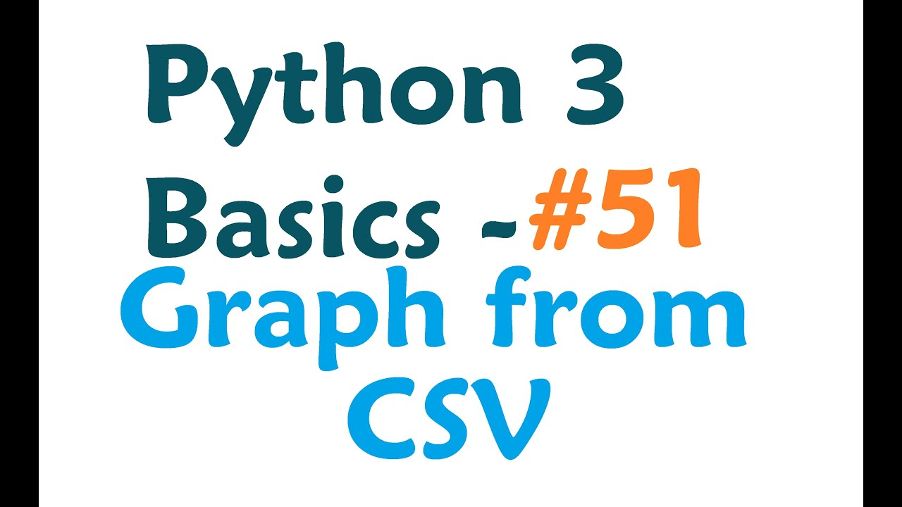 Python 3 Programming Tutorial - Matplotlib plotting from a CSV
