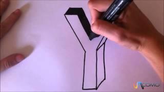 Dibujar la letra Y en 3D -Draw the letter Y 3D