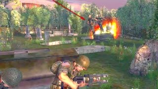 FrontLine Commando D Day Omaha Final Mission Gameplay