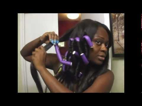 Hair Tutorial Beautiful Bouncy Curls Using Flexi Rods