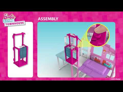 Barbie 3-Story Townhouse 3D Animated Assembly Video | @Barbie