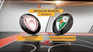 Highlights: Olympiacos Piraeus-Zalgiris Kaunas