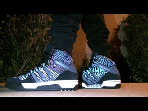 4ea823d2cbf Adidas Metro Attitude Hi (XENO) 3M reflective on feet - YouTube