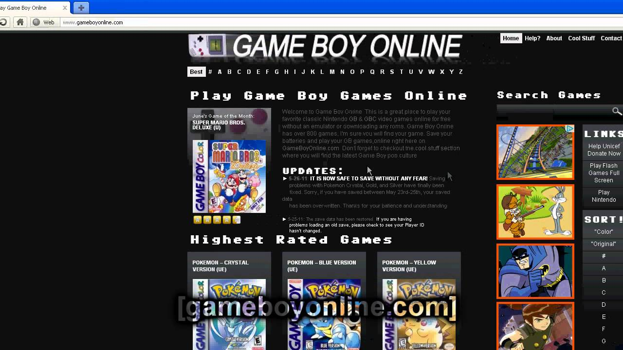 Game boy color online games -  How To Play Gameboy Color Games Online For Free