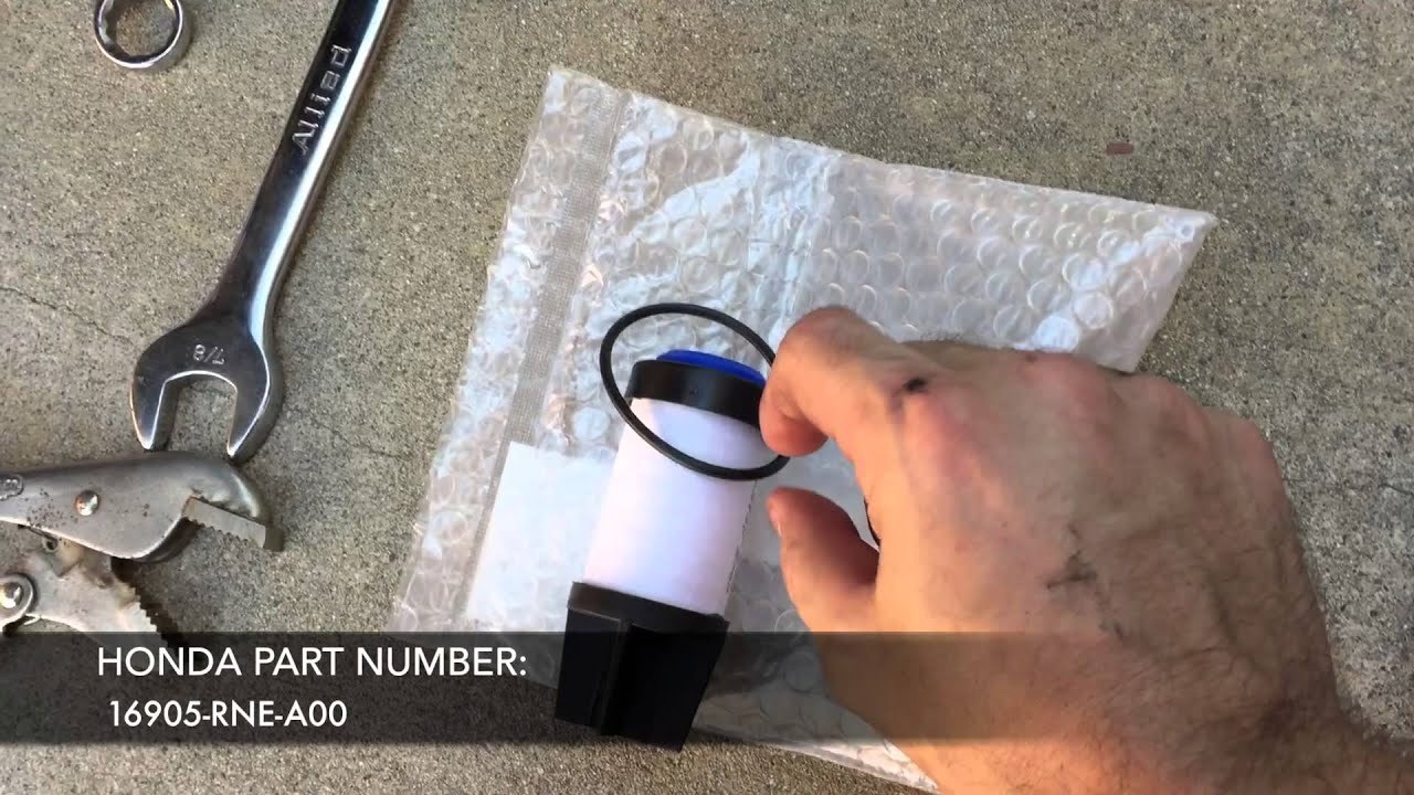 how to change your 2006 2011 honda civic gx cng low pressure fuel filter [ 1280 x 720 Pixel ]