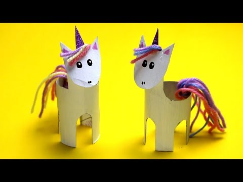 How to Make a Paper Roll Unicorn | Fun kids craft