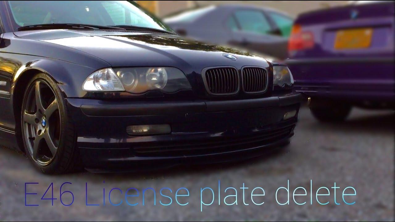 BMW e46 License Plate Delete  YouTube