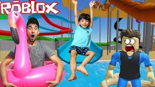Roblox - PARQUE AQUÁTICO COM LUCAS ROCHA - Robloxian Waterpark