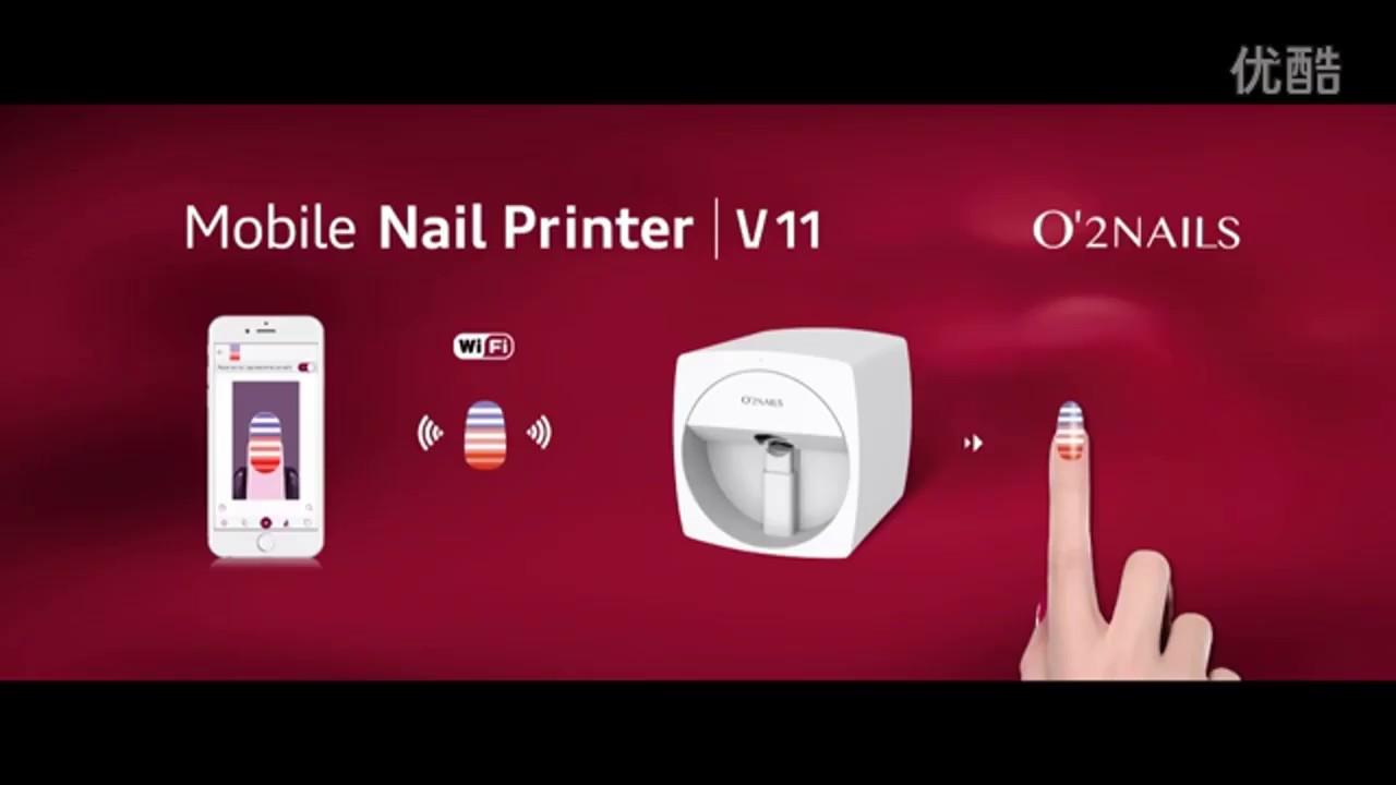3d Nail Printer Mobile Portable O2 Nail Printer Diy Nail Art
