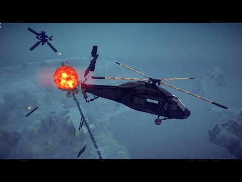 Black Hawk Down | Shooting Down The UH-60 Black Hawk With Guided Missiles | Besiege