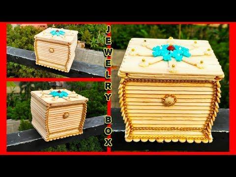 DIY, how to make jewelry box  /  jewelry box / best craft ideas / کاردستى, صندوق جواهرات