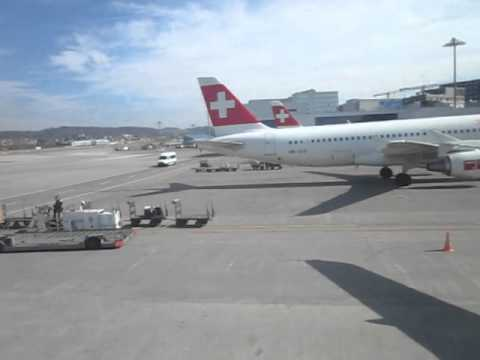 swiss airbus at the gangway in zurich 2012