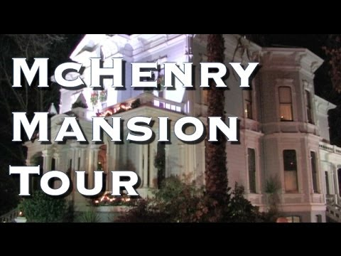 McHenry Mansion Video Tour - Historic McHenry Mansion Christmas Decorations - Modesto, California