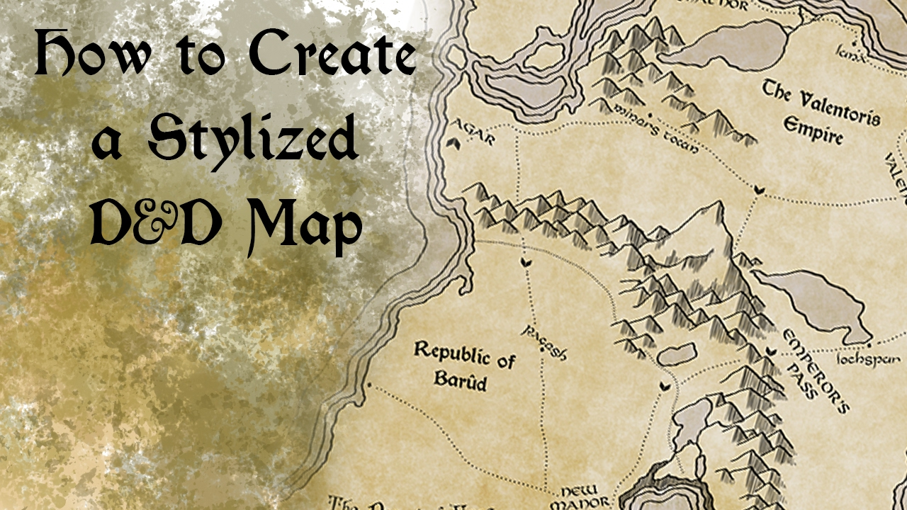 Free Dd World Map Maker.How To Create A Stylized D D Map Youtube