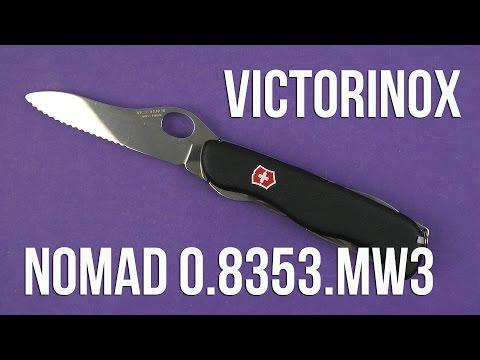 Нож Victorinox Nomad One Hand 0.8353.MW3 Black