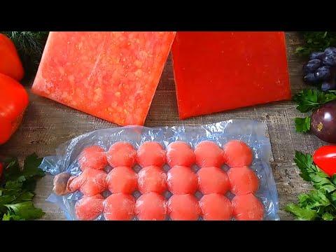 Заморозка помидор на зиму   Freezing tomatoes   La Marin