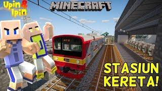 UPIN IPIN BIKIN STASIUN KERETA DURIAN RUNTUH!! - Minecraft Lucu