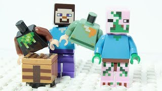 Lego Minecraft Wrong Costume Changing Brick Building Figures Animation