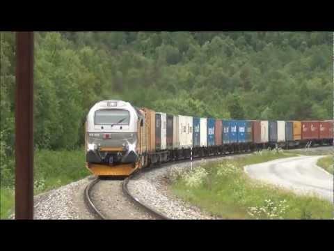 Vossloh Euro 4000 Diesel Locomotive In Norway