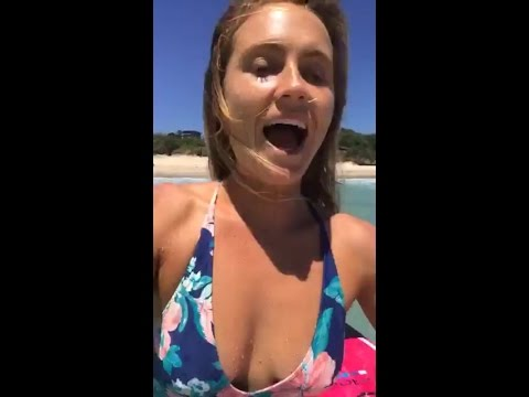 Alana Blanchard surfing in australia with Jack Freestone