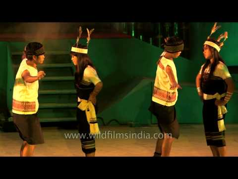 Traditional Kuki Thadou dance at Manipur's Sangai Fest