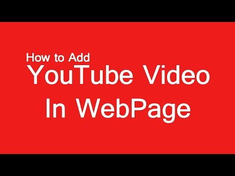 How To Add YouTube Video In HTML Web Page