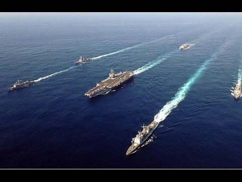 中国航母编队赴南海_意在威慑中国?美军航母编队驶入南海 - YouTube