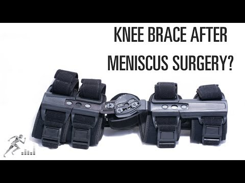 Should you wear a knee brace after meniscus surgery?
