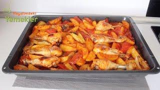Patatesli Tavuk Bagetli Tepsili -Fırında Tavuk baget ve Patates /Hayalimdeki Yemekler