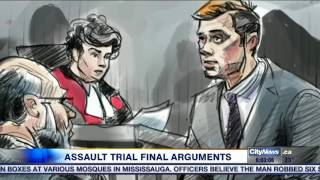 The final arguments in the sexual assault trial involving three Tor...