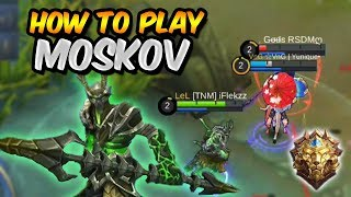 THIS IS HOW YOU PLAY MOSKOV IN LEGEND RANK! - MOBILE LEGENDS