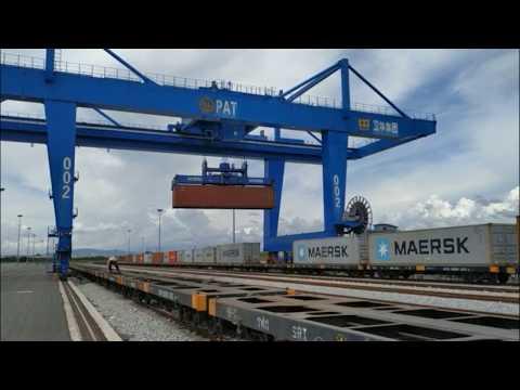RMG Container Crane | Специальный контейнерный козловой кран WEIHUA