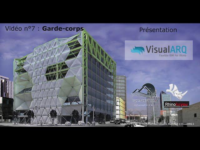 Présentation VisualArq vidéo 7 : garde corps